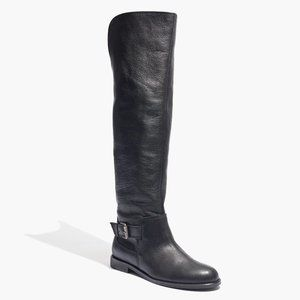 Madewell Conor Over the Knee Leather Boots Black